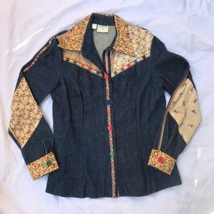 Vintage 1970's Denim Shirt French Dressing Co. S